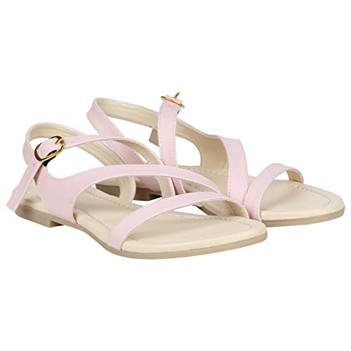 af1604117 MISTO Vagon Women and Girls Formal and Casual Synthetic Leather Flat Sandals   Buy Online at Low Prices in India - Amazon.in