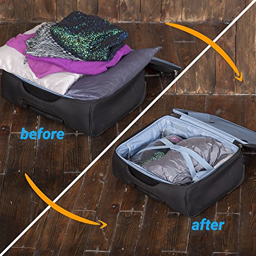 51d89e779f99 12 Travel Storage Bags for Clothes - Compression Bags for Travel - No  Vacuum or Pump Sacks-Save Space in your Luggage Accessories
