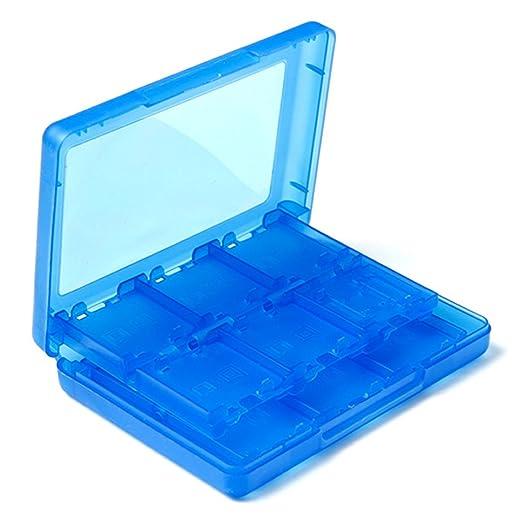 Azul Memoria 28en1 Juego Sostenedor Caja Tarjeta SD Para Nintendo 3DS XL DSI Lite