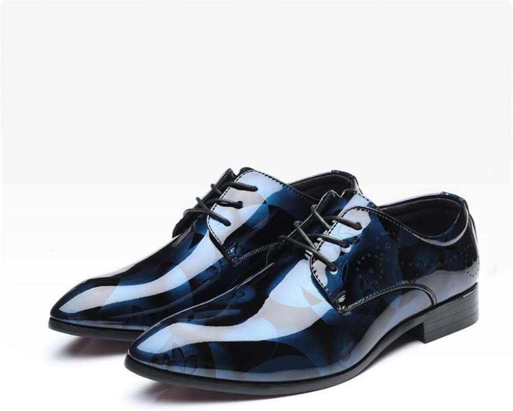 Leather Business Shoes,Pointed Toe Dress Shoes,Spring//Fall Comfort Formal Shoes//Party /& Evening//Printed,A,40 Yaxuan Mens Shoes