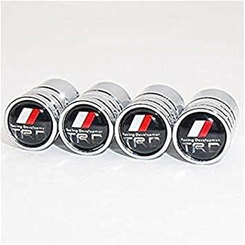 lijuan218 Toyota TRD Logo Emblema Auto Coche Rueda Rueda de Aire Válvula Caps Tapa del Vástago Cubierta Accesorios Decoración Regalo de Cumpleaños (Plateado ...