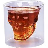 Bicchiere TESCHIO CRANIO SKULL Cicchetto Shot Glas - Design Teschio di Cristallo per vodka, brandy, whisky, birra da 75cl