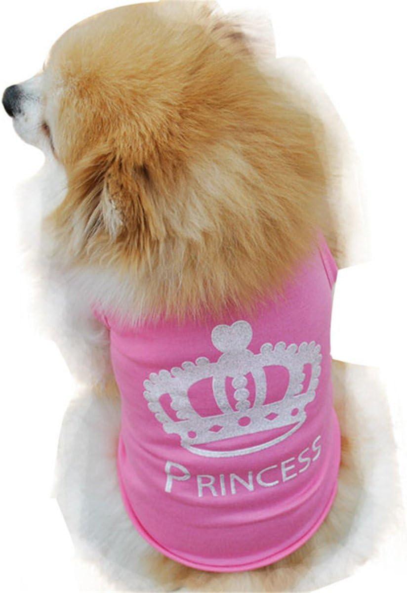 Smniao Sommer Baumwolle Haustier Hund Kleidung Princess Weste T-Shirt Hemd Kost/üme f/ür Kleine Hund Welpen Katze