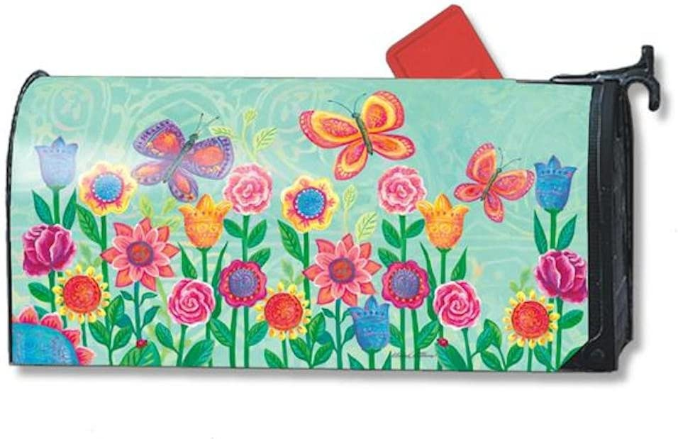 MailWraps Butterfly Garden Mailbox Cover