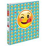 Avery Peek A View Durable Customizable Emoji Binder, 1'' Round Rings, People Emoji Design (18725)