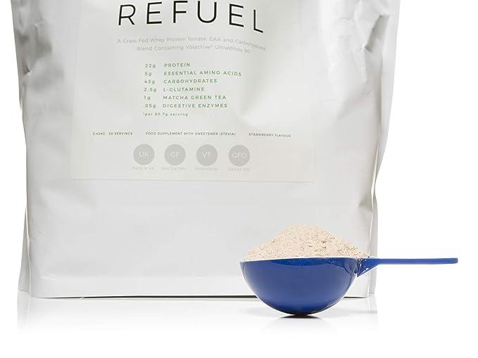 REFUEL Post-entrenamiento de proteína de suero aislado y mezcla de carbohidratos por LLS | 2.42kg - 30 Porciones | 22 g de proteína | Con EAAs, L-Glutamine ...