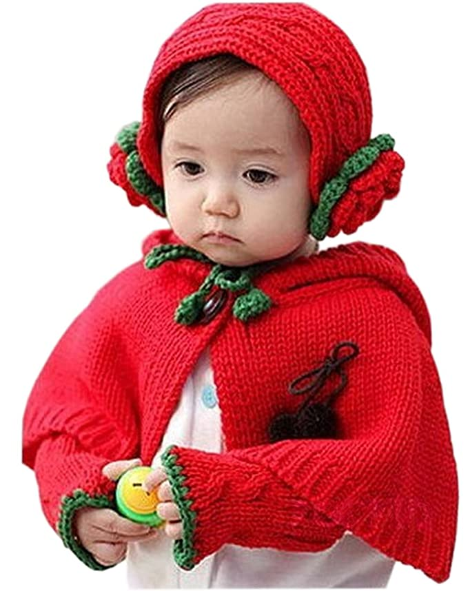 Bienvenu Baby Girls Boys Toddlers Double-Side Wear Cape Coat Snowsuit Warm Poncho