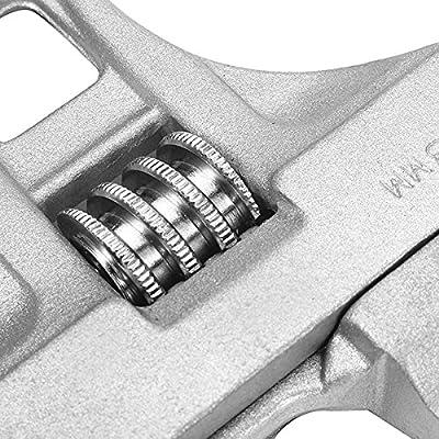 KISENG 16-68mm Mini Adjustable Spanner Wrench Short Shank Large Openings Ultra-Thin