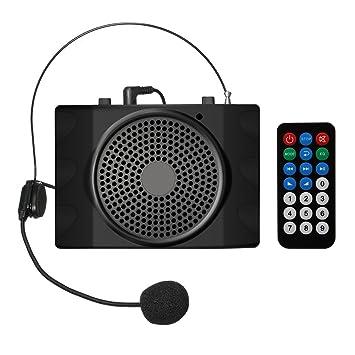 Amplificador Vocal, ELEGIANT amplificador de voz portátil Amplificador Auricular Altavoz USB2.0 con Micro