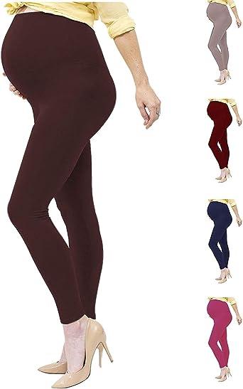 Ladies Maternity Leggings Women Pregnancy Waist Leggings Soft Ankle Length Pants