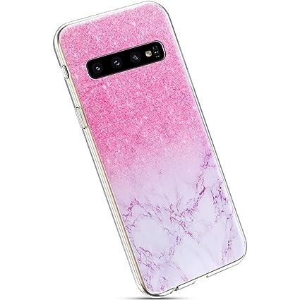 Ysimee Compatible Fundas Samsung Galaxy S10 Plus Estuches Cristal Anti-Golpes Ultra Slim Carcasa Silicona Suave Transparente Protector TPU Anti-Choque ...