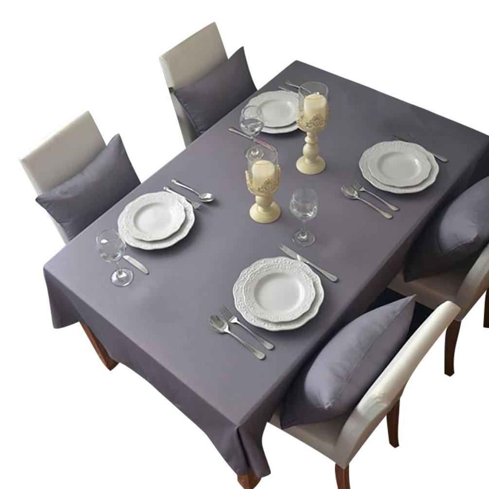 NiSeng Polyester Tischdecke Gastronomiebedarf Hochzeit Tischtuch Pflegeleicht Tischwäsche Abwaschbar Tischdecken Rechteckig für Garten Grau 60x60 cm