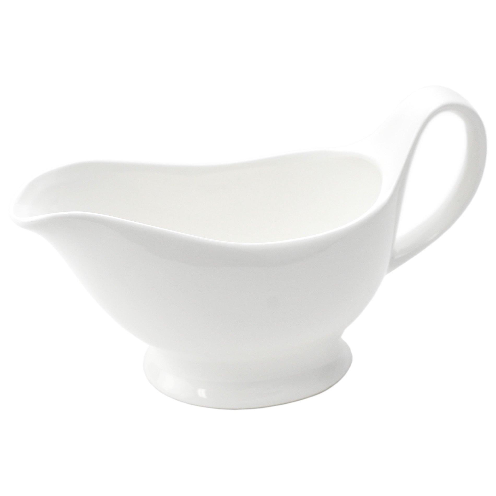 Gravy Sauce Boat,Fiesta Vintage Gravy Boat,Fine White Porcelain,16 Ounce