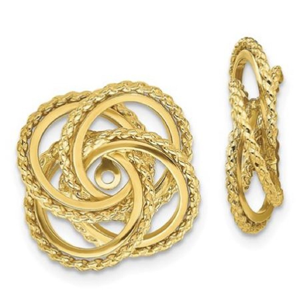 GLDQ001 14k Polished & Twisted Fancy Earring Jackets by GLDQ001
