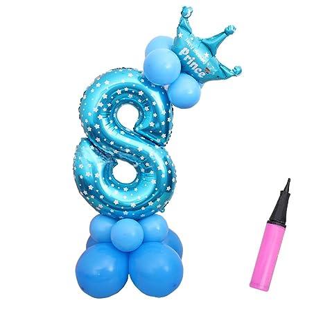levoberg balón de - número con bomba de Air cumpleaños niño balón ...