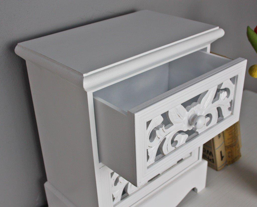 Elbmöbel Kommode Klein H35 X B29 X T16cm Schmuckkommode Antik Holz Weiß  Landhaus Tischkommode Schränkchen: Amazon.de: Küche U0026 Haushalt