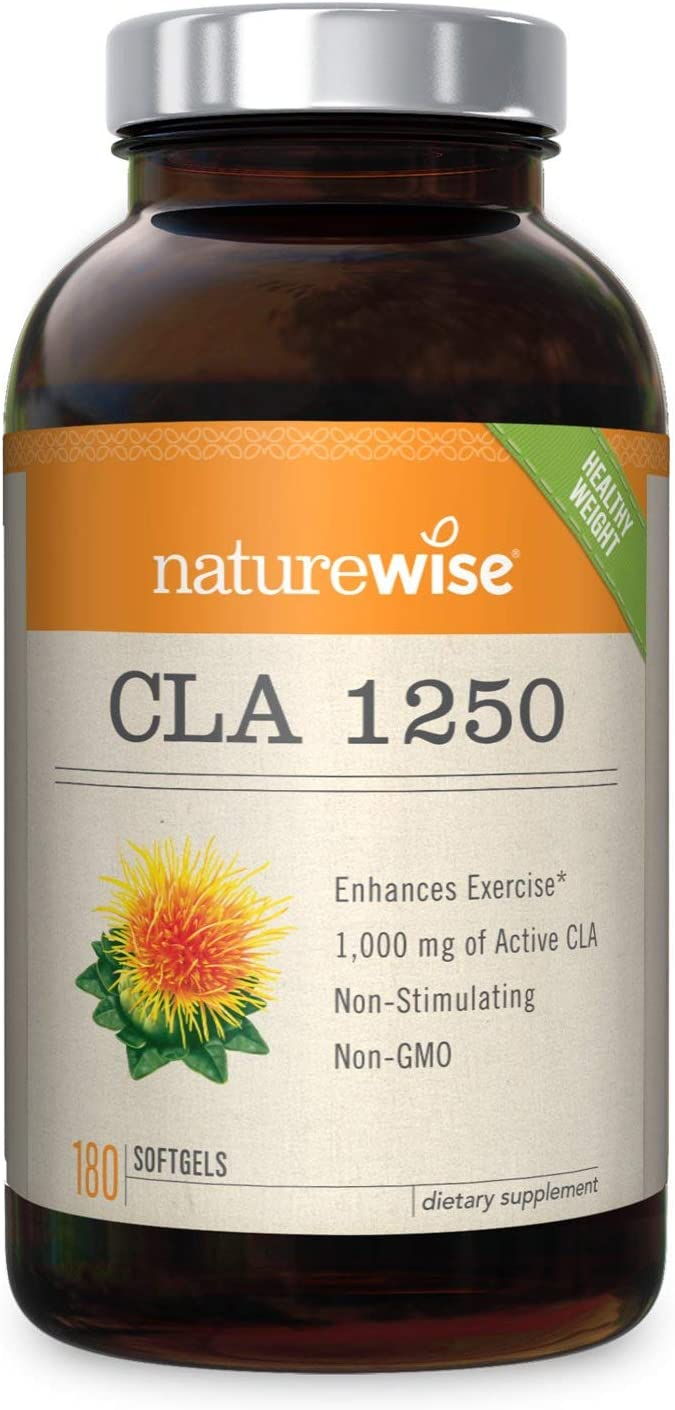 NatureWise CLA 1250, High Potency, Natural Weight Loss Exercise Enhancement
