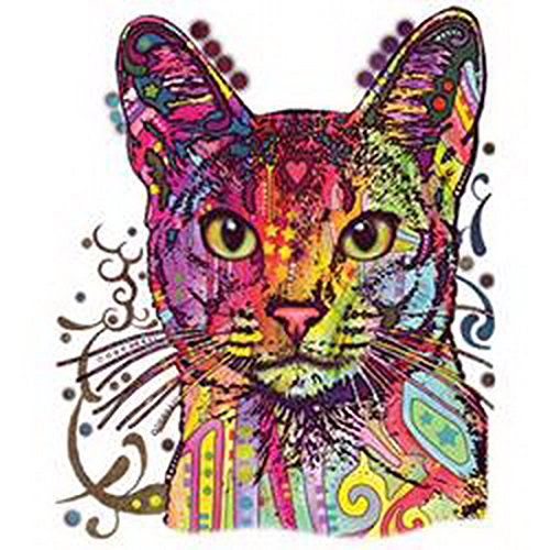 Abyssinian Cat Canvas Tasche for Ladies, Farbe Grau, Pop Art Style