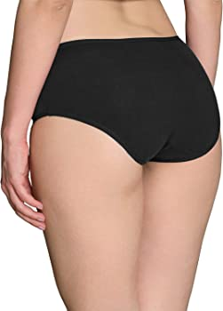 Ladies//Girls Size 14 Midi Knickers Panties Briefs Stretchy Cotton Black