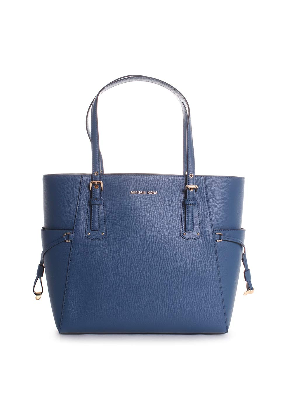 Michael Kors Voyager East West Leather Tote Handbag in Dark Chambray