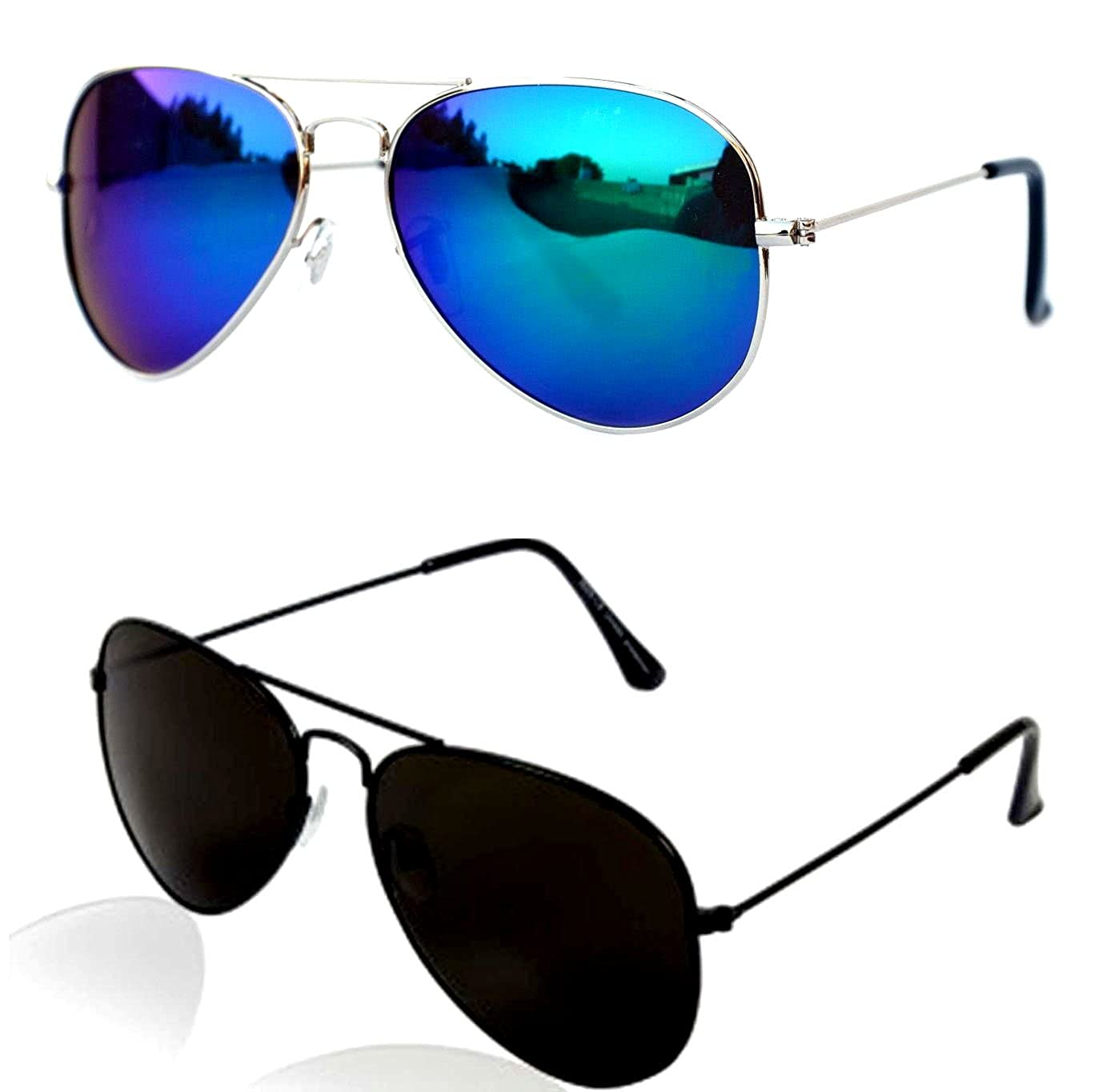 3207edae76c88 Younky Unisex Combo Offer Pack of UV Protected Aviator Stylish Mercury Sunglasses  For Men Women Boys   Girls ( BM-BB
