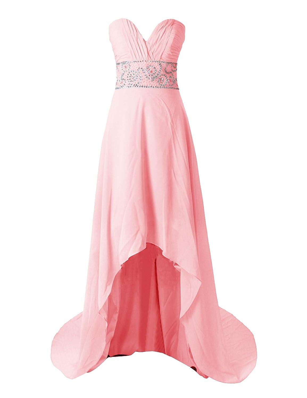 Dressystar Damen Chiffon Trägerlos Herzförmig Abendkleider Partykleid Ballkleid Kleider Frauen