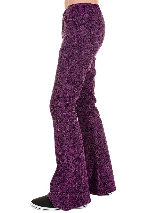 60s – 70s Mens Bell Bottom Jeans, Flares, Disco Pants Run & Fly Mens 60s 70s Vintage Grape Paisley Corduroy Retro Bell Bottom Flares $54.95 AT vintagedancer.com
