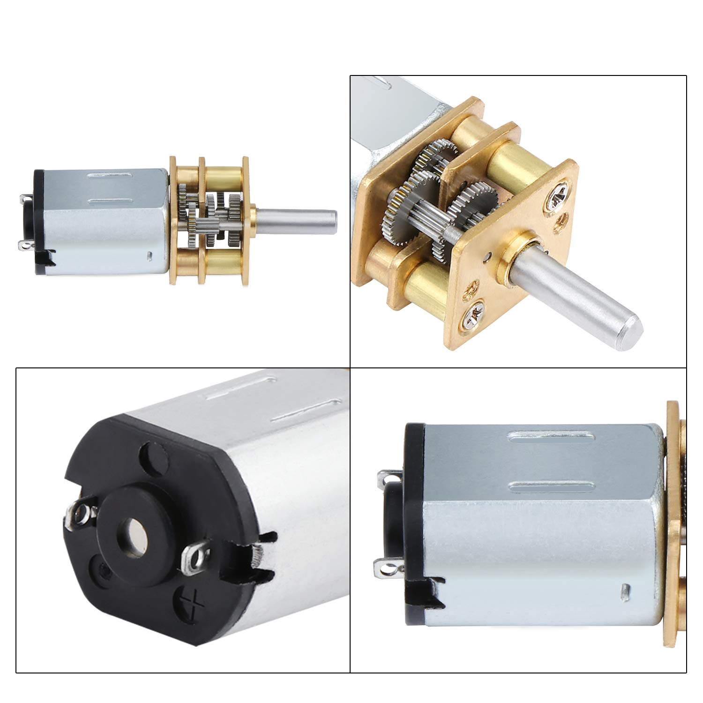 Mini-Getriebemotor mit 2 Anschl/üssen f/ür RC-Car-Roboter 3er-Pack TsunNee DC 3V 15RPM Micro-Untersetzungsmotor