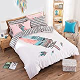 TheFit Paisley Bedding for Adult U166 Boho Wild and Free Duvet Cover Set 100% Cotton, Queen Set, 4 Pieces
