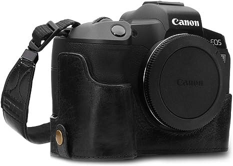 Megagear mg1557 para Canon EOS r Estuche Ever Ready, Media Funda, Estuche de Base, Funda de Pronto Uso de Cuero auténtico, con Correa: Amazon.es: Electrónica