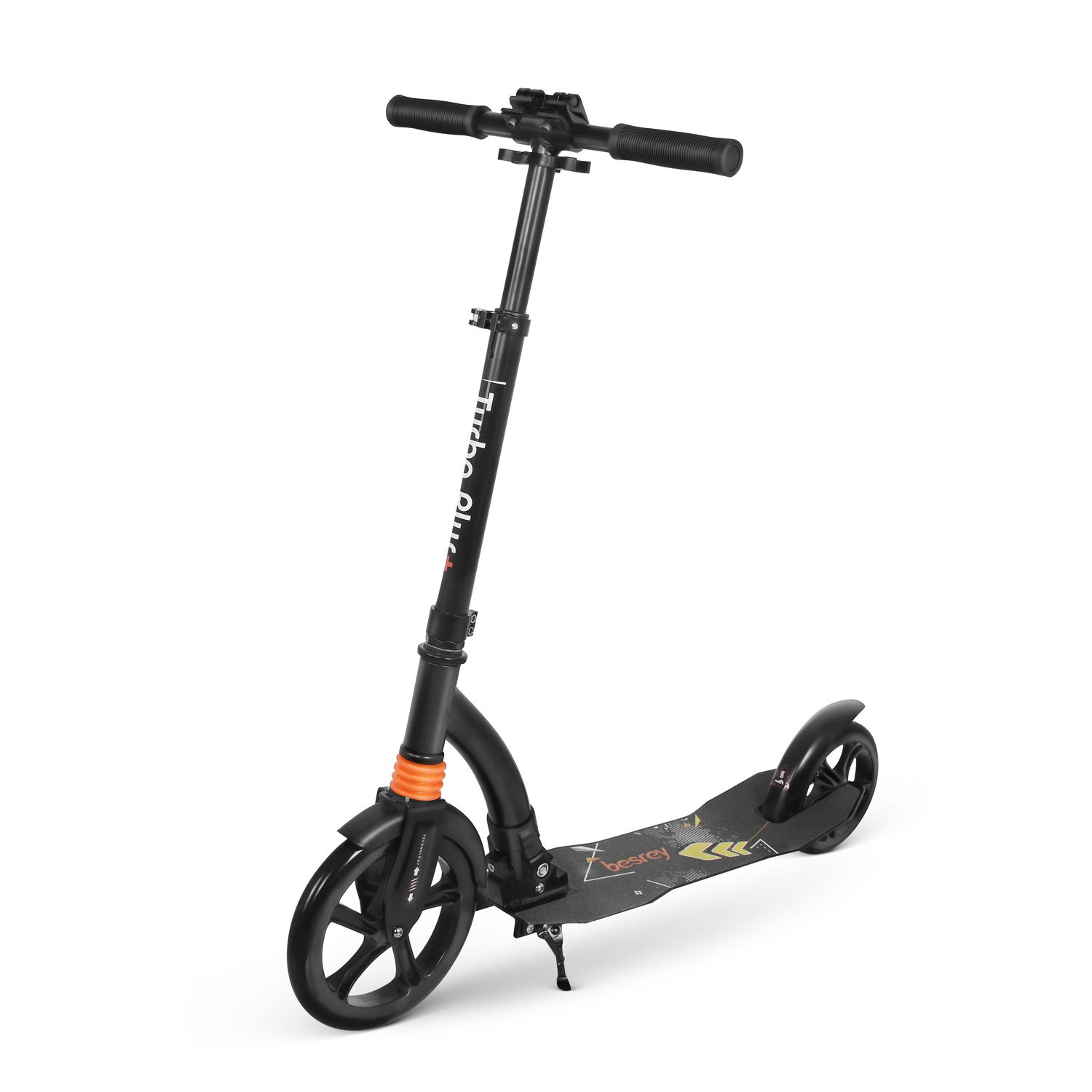 besrey Kick Scooter Big Wheel Scooter Foldable Scooter Adjustable Height Shock Absorption Kick Scooter for Kids