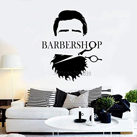 zzlfn3lv Cool Men Barber Shop Vinilo Tatuajes de Pared Barbería ...