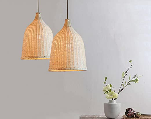 Liveinu Pendant Lighting with Handmade Rattern, Adjustable Kitchen Lamp Pendant Ceiling Hanging Light for Kitchen Island, Restaurants, Hotels and Shops