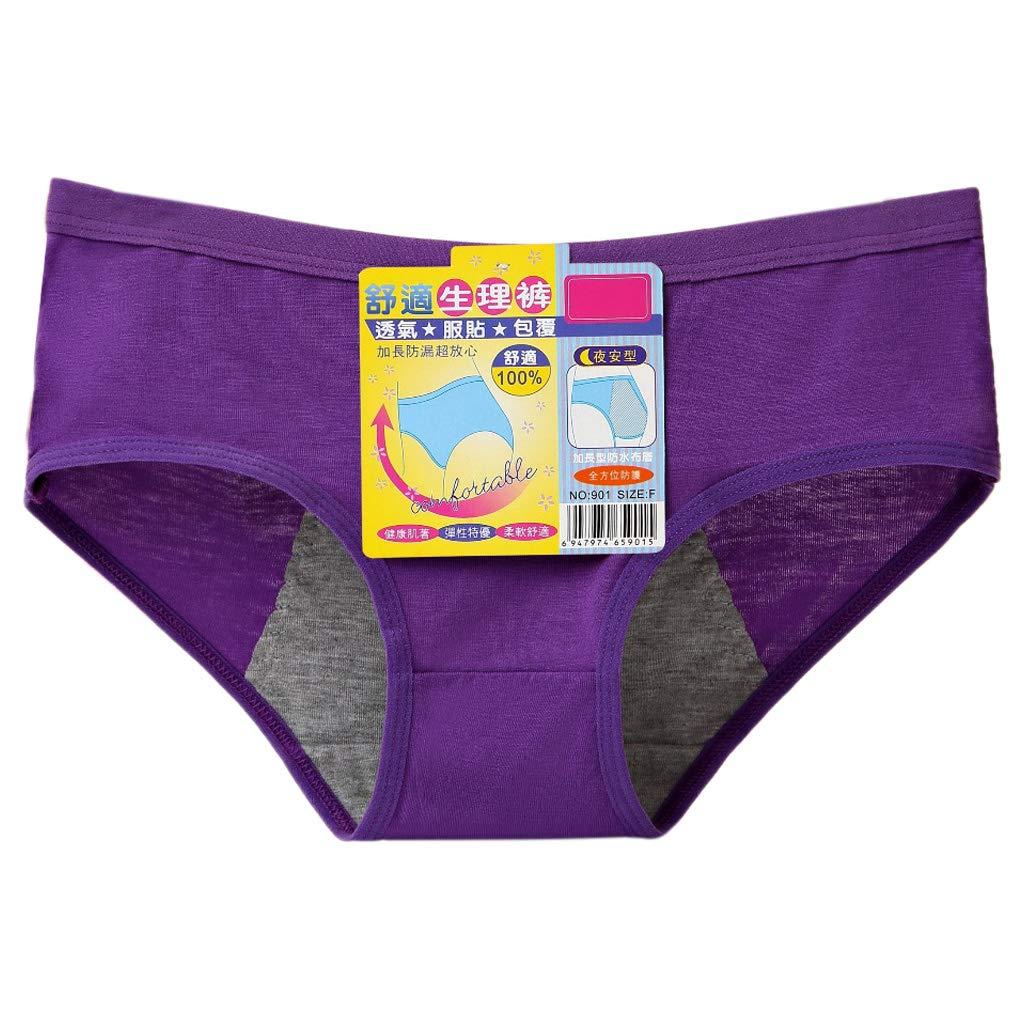Gris Lamdoo Mujeres Per/íodo Menstrual Ropa Interior Bragas de algod/ón Modal Fisiol/ógico sin Costuras XL