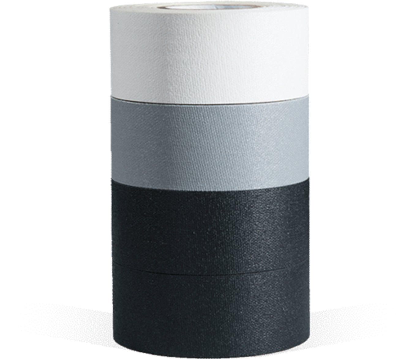 microGAFFER Tape 8 Yards x 1''- Multi Pack of 4 Rolls, Classic Colors (Black, Black, Gray, White) (MADE IN USA) by Microgaffer Classic (Image #2)