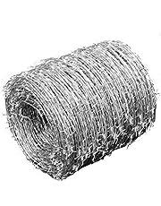 Filo spinato galvanizzato per recinzioni Metalliche, zincato Distribuzione Filo spinato consegnato, Recinzione Metallica, Diametro Fili: Ø 1.6 mm, Lunghezza: 500 m