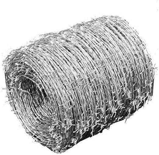 Wakects - Hilo de espino galvanizado para Vallas metálicas, Valla metálica, diámetro del Alambre: 1,6 mm, Longitud: 500 m: Amazon.es: Hogar