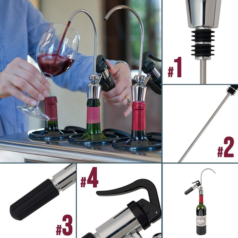 Dispensador de vino por copa CV1T Climadiff - Ideal para servir sus vinos por copa conservando el contenido de sus botellas - Conserva su vino bajo ...