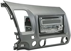 Scosche HA1561DGB Single or Double Din Installation Dash Kit for 2006-UP Honda Civic (Gray)