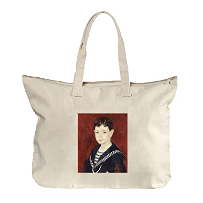 hot sale 2017 Fernand Halphen As A Boy (Renoir) Canvas Beach Zipper Tote Bag Tote