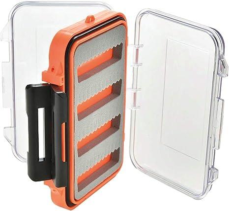 STR - Caja porta moscas doble para la pesca de mosca, modelo grande, 15 x 10 x 4 cm: Amazon.es: Deportes y aire libre
