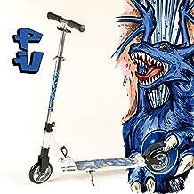 VTT modèle fully xXL bigWheel hepros trottinette-roues 145 mm cityroller silver dragon (bleu)