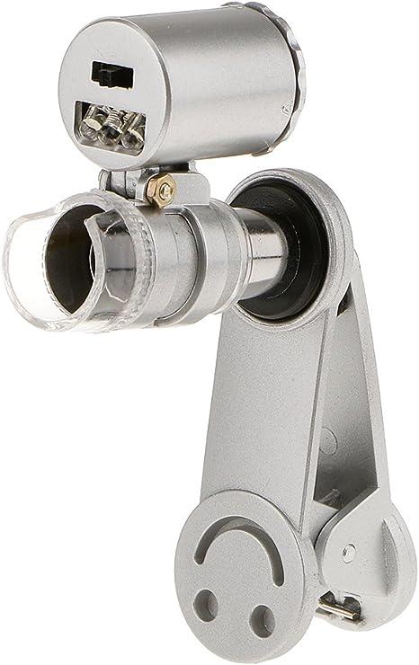 60x Zoom Handy Kamera Optische Led Clip Lupe Mikroskop Amazon De Kamera