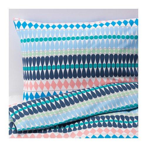 IKEA羽毛布団カバーと枕カバーS、マルチカラー、フル/クイーン(ダブル/クイーン) B074CS64BL