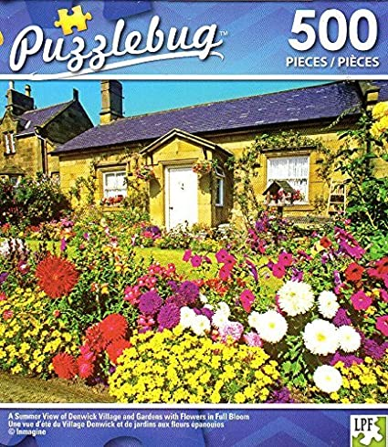 NEW Puzzlebug 500 Piece Jigsaw Puzzle ~ Flower Cart