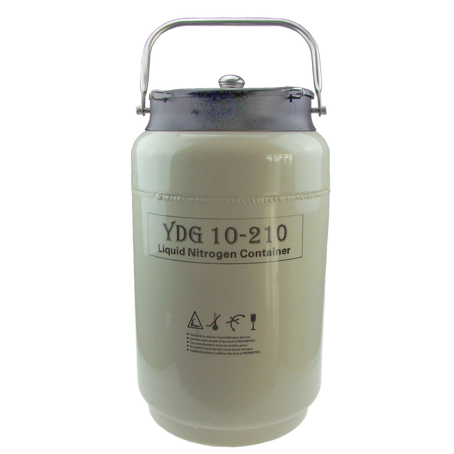 10L Wide Mouth Cryogenic Container Liquid Nitrogen Ln2 Tank with Straps and Carry Bag