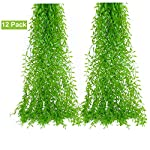 DearHouse-12-Pcs-Artificial-Vines-Fake-Greenery-Garland-Willow-Leaves-with-Total-60-Stems-Hanging-for-Wedding-Party-Garden-Wall-Home-Decoration
