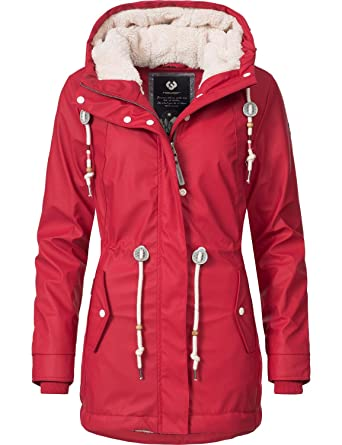 Ragwear Damen Outdoor-Jacke Regenparka Monadis Rainy Black Label 7 Farben XS -XXL  Amazon.de  Bekleidung 4718567b49