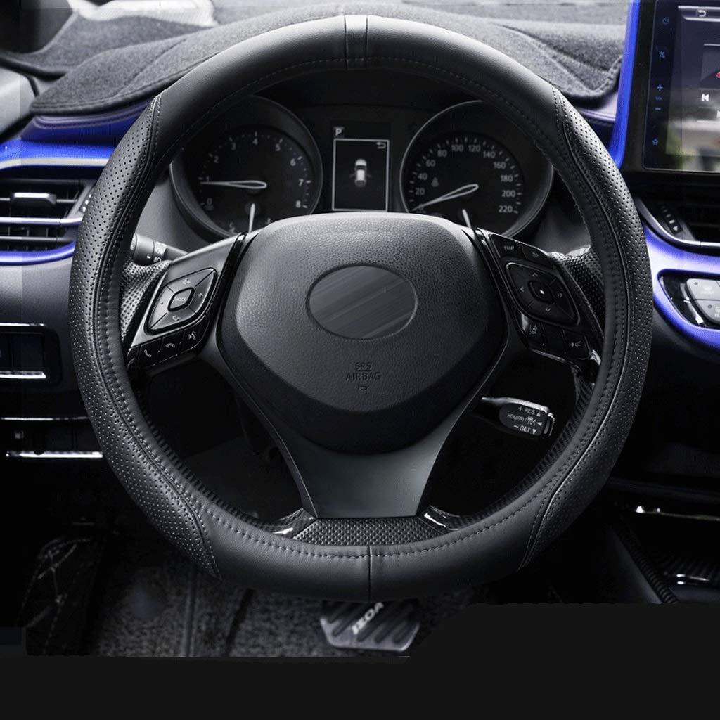 Toyota Chr Volante De Cuero Cubierta Yize Antideslizante Cubierta Del Volante Del Cubiertas Del Volante Color : Black