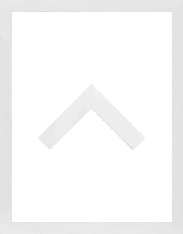 Morena Holz Werkstoff Bilderrahmen 68 x 88 cm modernes sehr eckiges Profil 88 x 68 cm grosse Farbauswahl jetzt  Weiß Matt mit Kunstglas Antireflex 2 mm